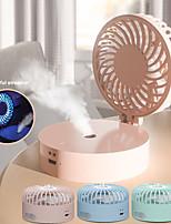 cheap -Mini spray handheld small fan hanging neck Creative and convenient desktop humidification charging small fan customization