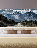 cheap -Highway Snow Mountain Living Room Tv Background Wall Stickers Bedroom Bedside Art Decoration Art Ornament Wallpaper Sticker 1 set 2pcs