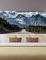 Недорогие -шоссе снег гора гостиная тв фон стены стикеры спальня прикроватные художественное оформление художественный орнамент обои стикер 1 компл. 2 шт.