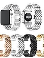Недорогие -Ремешок для часов для Apple Watch Series 5 / Серия Apple Watch 5/4/3/2/1 / Apple Watch Series 4 Apple Дизайн украшения / Бизнес группа Нержавеющая сталь Повязка на запястье
