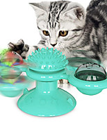 cheap -Interactive Toy Rotating Toy Cat Kitten Pet Toy 1 set Round Pet Friendly Massage Pet Exercise Plastic Gift
