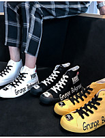 cheap -Men's Summer Casual Daily Sneakers Canvas White / Black / Yellow