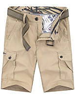 """cheap -Men's Hiking Shorts Hiking Cargo Shorts Summer Outdoor 10"""" Loose Breathable Quick Dry Sweat-wicking Comfortable Cotton Shorts Bottoms Camping / Hiking Hunting Fishing Red Army Green Khaki 28 29 30 31"""