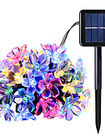 cheap -6m String Lights 30 LEDs 1 set Warm White Cold White Multi Color Valentine's Day Christmas Waterproof Decorative Patio Solar Powered