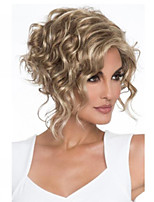 cheap -Synthetic Wig Curly Hathaway Halloween Christmas Middle Part Wig Short Golden Blonde Synthetic Hair 12 inch Women's Women Synthetic Sexy Lady Blonde hairjoy