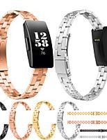 Недорогие -Ремешок для часов для Fitbit Inspire HR / Fitbit Inspire Fitbit Классическая застежка / Современная застежка / Бизнес группа Нержавеющая сталь Повязка на запястье