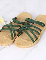 cheap -Women's Slippers & Flip-Flops Summer Flat Heel Open Toe Daily PVC White / Black / Pink