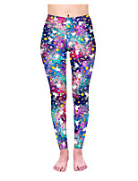 cheap -Women's Sporty Comfort Sports Gym Yoga Leggings Pants Patterned Animal Ankle-Length Print Purple