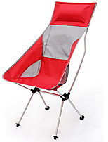cheap -Camping Chair Portable Foldable Washable Comfortable Aluminum Alloy Oxford for 1 person Fishing Beach Camping / Hiking / Caving Traveling Autumn / Fall Summer Yellow Red Green Blue