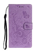 cheap -Case For Samsung Galaxy A51/Galaxy A71/S20 Plus Wallet / Card Holder / with Stand Full Body Cases Butterfly / Solid Colored PU Leather For Galaxy S20 Ultra/A20E/A01/A11/A21/A41/A10S/A20S/A30S/A50