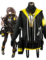 cheap -Inspired by Girls Frontline Anime Cosplay Costumes Japanese Cosplay Suits Coat Top Skirt For Women's / Bow / Gloves / Socks / Scarf