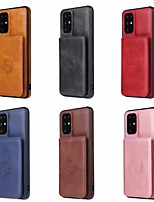 cheap -Case For Apple iPhone 11 / iPhone 11 Pro / iPhone 11 Pro Max Card Holder / Dustproof / Magnetic Back Cover Solid Colored PU Leather / TPU