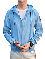 cheap -Men's Hiking Skin Jacket Hiking Jacket Summer Outdoor Waterproof Sunscreen Breathable Quick Dry Jacket Hoodie Top Running Hunting Fishing White / Yellow / Grey / Light Blue