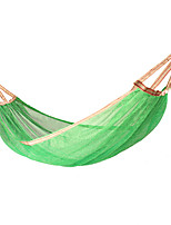 cheap -Camping Hammock Outdoor Breathability Wearable Reusable Adjustable Flexible Folding Nylon PVA Ice Silk for 1 person Hunting Hiking Beach Blue Red Pink 200*125 cm Pop Up Design