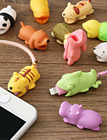 cheap -Cute Earphone Cable Bite Animals Protector For Iphone Charging Cord USB Cable Winder Organizer Buddies Cartoon Phone Accessory