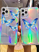 cheap -Case For Apple iPhone 12 / iPhone 12 Mini / iPhone 12 Pro Max Translucent Back Cover Butterfly TPU