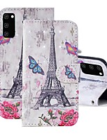cheap -Case For Samsung Galaxy A91 / M80S / Galaxy A81 / M60S / S20 Plus Wallet / Card Holder / with Stand Full Body Cases Eiffel Tower PU Leather For Samsung Galaxy S20 Ultra/A01/A11/A21/A41/A70E