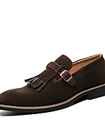 cheap -Men's Summer / Fall Business / Classic Daily Office & Career Loafers & Slip-Ons Faux Leather Non-slipping Wear Proof Green / Brown / Gray / Square Toe