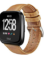 cheap -Watch Band for Fitbit Versa Fitbit Classic Buckle Genuine Leather Wrist Strap