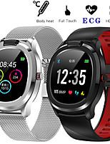 Недорогие -T01 смарт-часы ЭКГ сердечного ритма SmartWatch фитнес-трекер кардио браслет смарт-браслет полный сенсорный экран