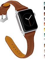 Недорогие -Ремешок для часов для Apple Watch Series 4 / Apple Watch Series 4/3/2/1 / Apple Watch Series 3 Apple Кожаный ремешок Натуральная кожа Повязка на запястье
