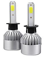 Недорогие -2 шт. Модернизированный супер яркий s2 cob светодиодные автомобильные фары лампы h1 h3 h4 h7 h8 h9 h11 h13 880 881 9004 9005 9006 9007 9012 288 Вт 28800lm 6500 К белый водонепроницаемый