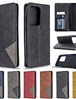 cheap -Case for Samsung Scene Picture Samsung Galaxy S20 S20 Plus S20 Ultra A51 A71 Diamond stitching contrast color PU leather material card holder lanyard all-inclusive anti-fall mobile phone case BF