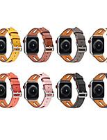 Недорогие -Ремешок для часов для Серия Apple Watch 5/4/3/2/1 Apple Спортивный ремешок / Бизнес группа Натуральная кожа Повязка на запястье