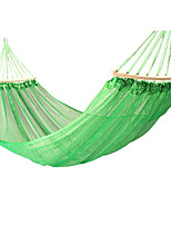 cheap -Camping Hammock Outdoor Breathability Wearable Reusable Adjustable Flexible Folding Nylon PVA Ice Silk for 1 person Hunting Hiking Beach Blue Red Green 200*150 cm Pop Up Design