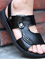 cheap -Men's Summer Outdoor Sandals PU Non-slipping Black / Brown