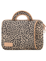 cheap -13.3 Inch Laptop / 14 Inch Laptop / 15.6 Inch Laptop Sleeve / Briefcase Handbags / Tablet Cases Canvas Leopard Print / Printing for Men for Women for Business Office Waterpoof Shock Proof