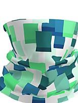 Недорогие -Муж. / Универсальные 3D принт Квадратный платок / Шарфы кольцом / Хиджаб - С принтом / Контрастных цветов Многофункциональный