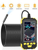 Недорогие -5.5mm1080p цифровая промышленная камера эндоскопа ручной водонепроницаемый бороскоп инспекционная камера для управления транспортным средством трубы обнаружения 6 светодиодов