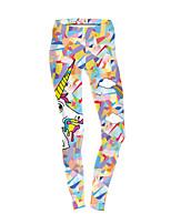 cheap -Women's Sporty Comfort Gym Yoga Leggings Pants Print Ankle-Length Beige