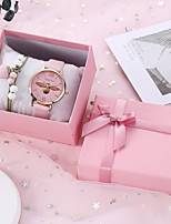 cheap -SANDA Women's Quartz Watches Vintage Fashion Black White Pink PU Leather Quartz White Black Blushing Pink Chronograph Cute Casual Watch 1 set Analog
