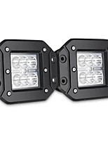 cheap -2PCS 4 Inch Flush Mount Flood Backup Reverse Rear Bumper LED Work Light For Dodge Ram 1500 2500 3500
