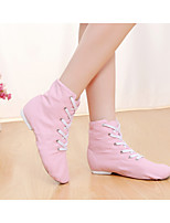 cheap -Men's / Women's Ballet Shoes / Jazz Shoes / Dance Sneakers Canvas Lace-up Flat / Sneaker Flat Heel Dance Shoes Nude / Pink / Green