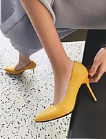 cheap -Women's Heels Summer Stiletto Heel Pointed Toe Daily PU Black / Yellow / Pink