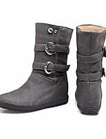 cheap -Women's Boots Summer Flat Heel Round Toe Daily PU Black / Yellow / Beige
