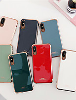 cheap -Case For Apple iPhone 7/8/7P/8P/X/XS/XR/XS Max/11/11Pro/11Pro Max/SE 2020Shockproof / Plating Back Cover Solid Colored TPU