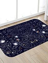 Недорогие -Черное звездное небо печать высококачественной пены памяти коврик для ванной и коврик на двери нескользящий абсорбент супер удобный фланель коврик для ванной коврик