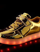 cheap -Girls' LED Shoes / Luminous Shoe / USB Charging PU Trainers / Athletic Shoes Little Kids(4-7ys) Running Shoes LED Pink / Gold / Silver Summer