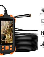 Недорогие -5,5 мм 1080 P HD цифровой эндоскоп камеры 4,3-дюймовый жк 4 см-5 м фокусное расстояние змея камера 3000 мАч камера для видеонаблюдения с 6 светодиодов