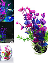 cheap -Fish Tank Decoration Simulation Artificial Trumpet Environmental Aquarium Accessories Simulation Fake Aquatic Plants purple grass