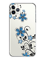 cheap -Case For Apple iPhone 11/11 Pro/11 Pro Max/XS/XR/XS Max/8 Plus/7 Plus/6S Plus/8/7/6/6s/SE/5/5S Transparent Pattern Back Cover Small Orchid Soft TPU