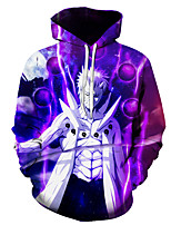 cheap -Inspired by Naruto Naruto Uzumaki Cosplay Costume Hoodie Polyster Print Printing Hoodie For Men's / Women's