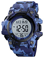 cheap -SKMEI Men's Sport Watch Digital Modern Style Stylish Silicone Black / Blue / Green 50 m Calendar / date / day Chronograph Alarm Clock Digital Outdoor Army - White+Sky Blue Black Blue One Year Battery