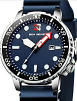 cheap -Men's Sport Watch Quartz Modern Style Sporty Silicone Black / Blue 30 m Water Resistant / Waterproof Calendar / date / day Day Date Analog Casual Fashion - Blue Black One Year Battery Life