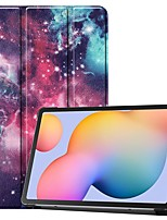 cheap -Case For Samsung Galaxy Tab S6 Lite (SM-P610/615)/ Tab S6 T860/856 /Tab S5e T720 10.5 Card Holder/Flip /Pattern Full Body Cases Milky Way Nebula PU Leather For Samsung Galaxy Tab A 10.1(2019)T510