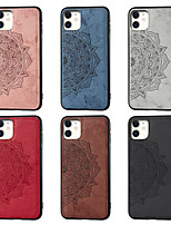 cheap -Case For Apple iPhone 11 / iPhone 11 Pro / iPhone 11 Pro Max Pattern Back Cover Flower Oxford Cloth